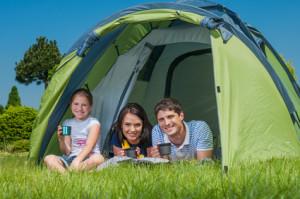 Family camping in California
